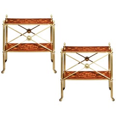 Antique Brass Coffee Table or Étagère