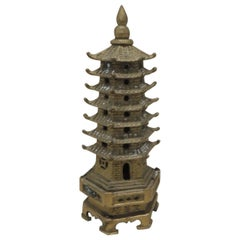 Antique Brass Finish Miniature Brass Pagoda