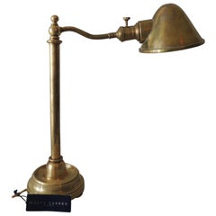 Antique Brass Finish Swing Arm Table Lamp by Ralph Lauren