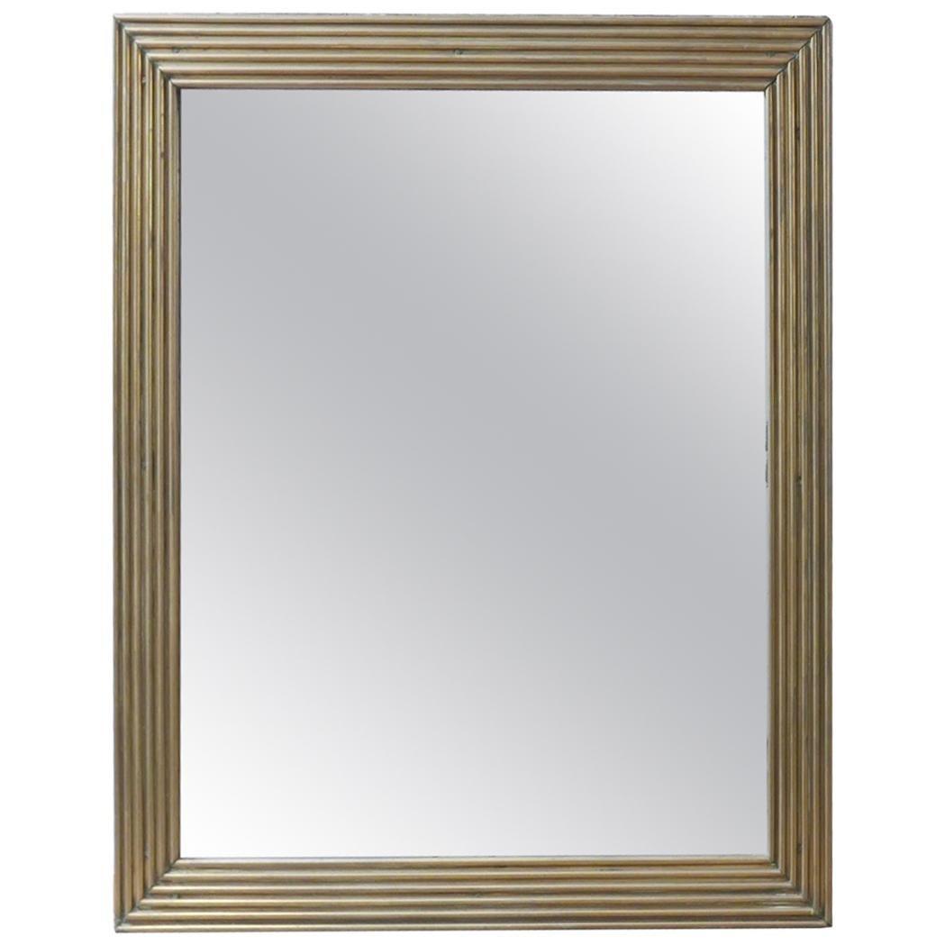 Antique Brass French Bistro Mirror
