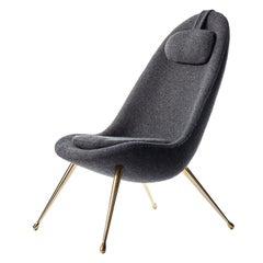 Antique Brass Pause Lounge Chair by Konekt Furniture