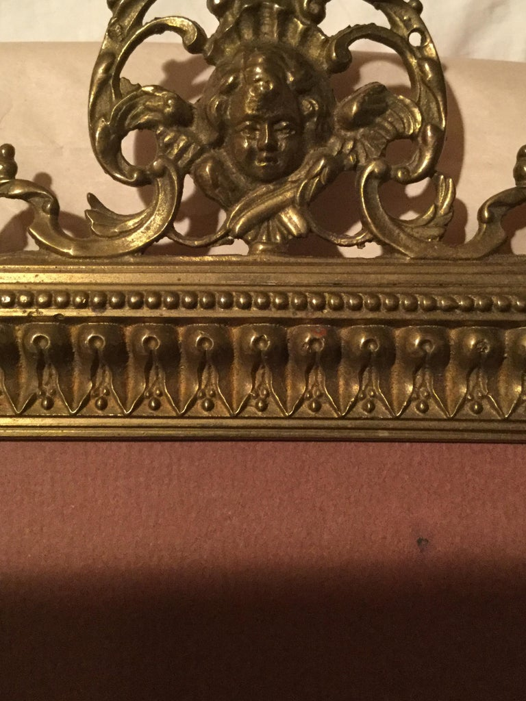 Antique Brass Picture Frame In Good Condition For Sale In Houston, TX