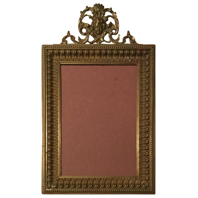 Antique Brass Picture Frame For Sale