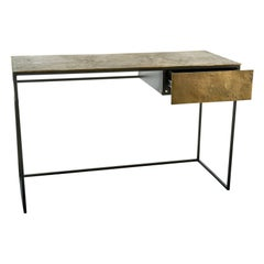 Antique Brass Plated Desk, Pols Potten Studio