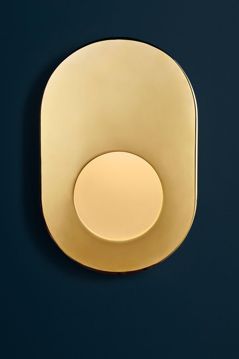 Antique Brass Portal Sconce Oval by Konekt Furniture 5