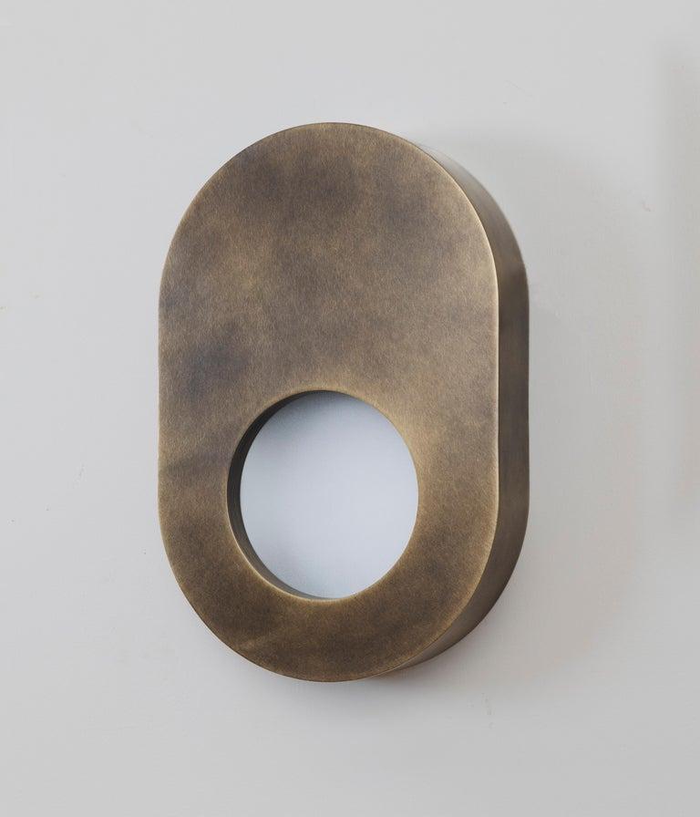 Antiquebrass portal sconce oval by Konekt Furniture  Dimensions: 12