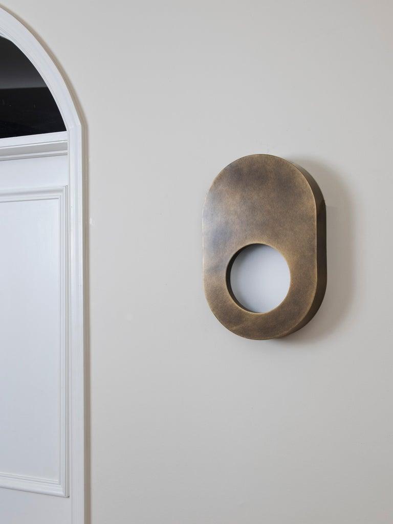 American Antique Brass Portal Sconce Oval by Konekt Furniture