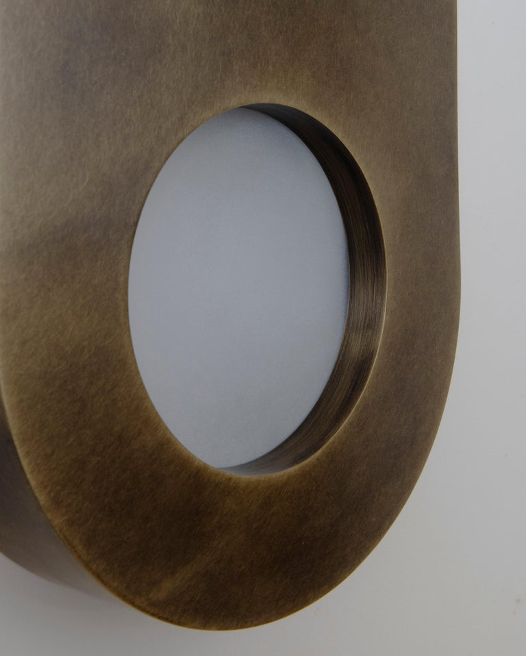 Antique Brass Portal Sconce Oval by Konekt Furniture In New Condition In Geneve, CH