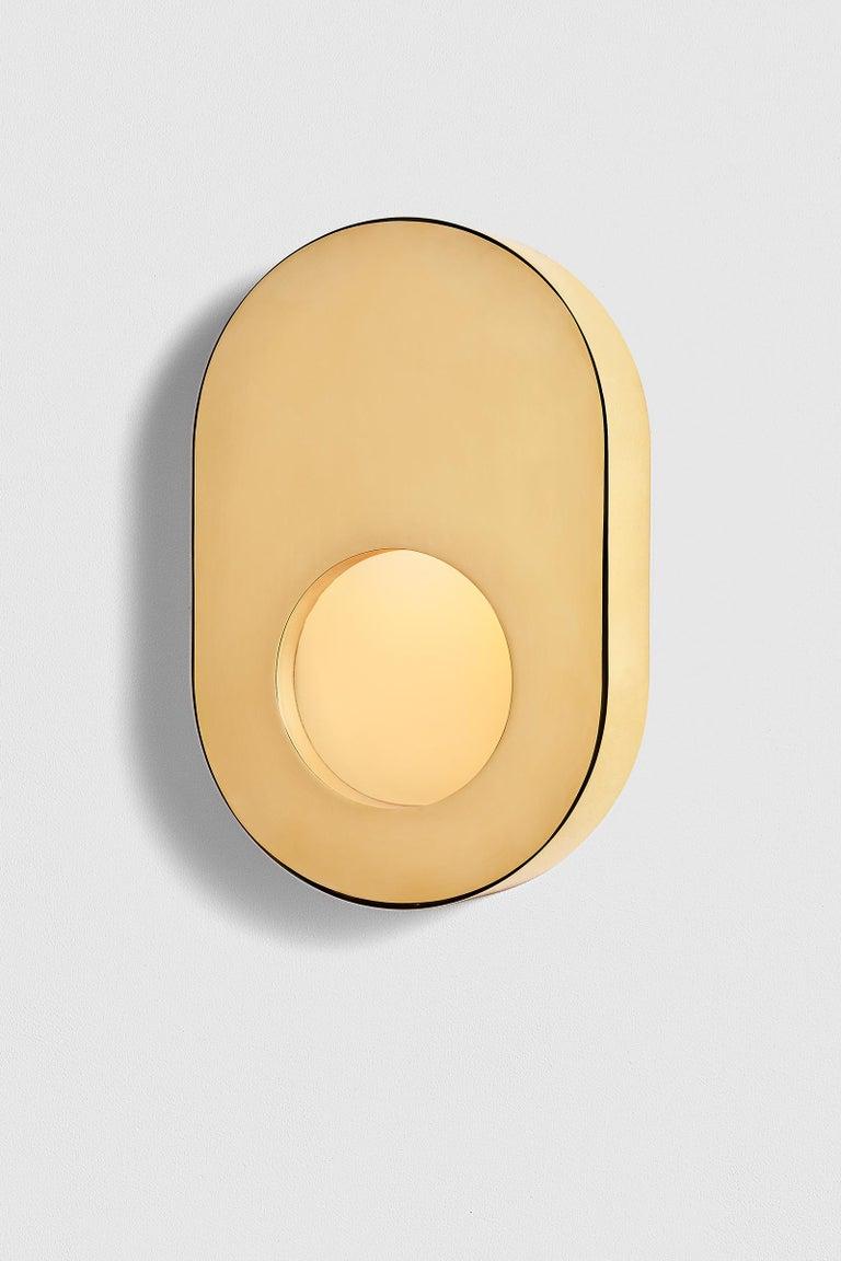 Contemporary Antique Brass Portal Sconce Oval by Konekt Furniture