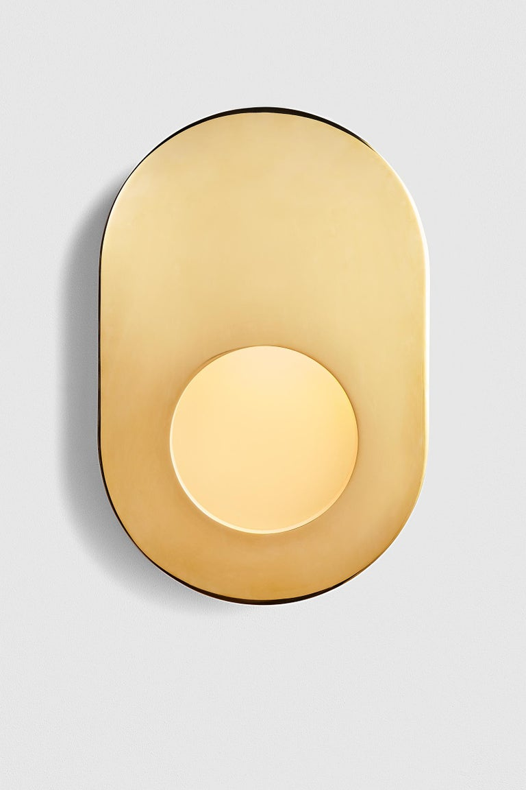 Antique Brass Portal Sconce Oval by Konekt Furniture 1
