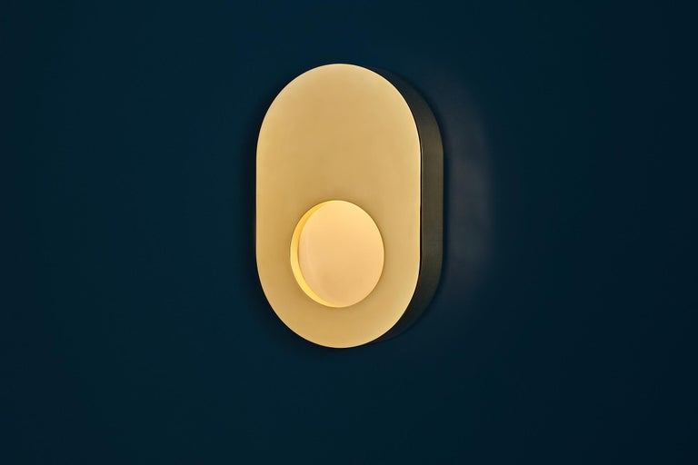 Antique Brass Portal Sconce Oval by Konekt Furniture 2
