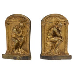 Antique Brass Sculpture Bookends