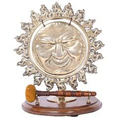 Antique Brass Sun Form Gong