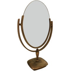 Antique Brass Vanity Mirror by Charles Hollis Jones
