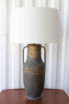 Antique Brass Vase Table Lamp