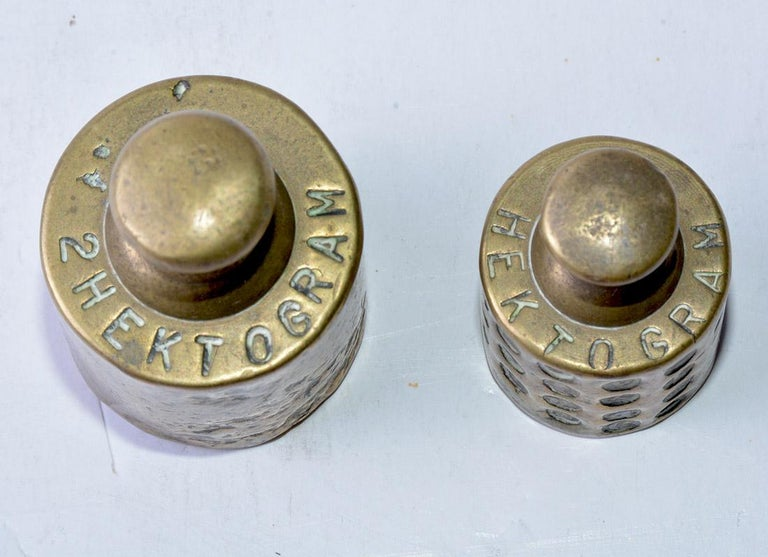 19th Century Antique Brass Weights For Sale