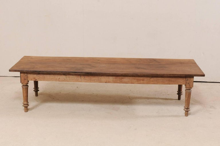 Carved Antique Brazilian Wood Table or Bench from the Early 20th Century For Sale