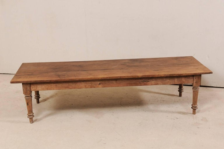 Antique Brazilian Wood Table or Bench from the Early 20th Century In Good Condition For Sale In Atlanta, GA