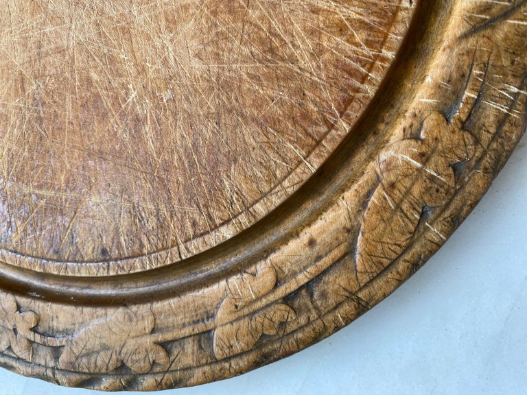 Victorian Antique Breadboard For Sale