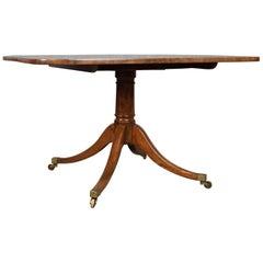 Antique Breakfast Table English Regency Mahogany Tilt-Top Dining, circa 1820