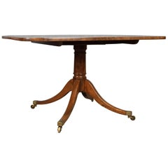 Antique Breakfast Table English Regency Mahogany Tilt-Top Dining, circa 1820