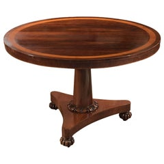 Antique Breakfast Table, William IV Rosewood Tilt-Top