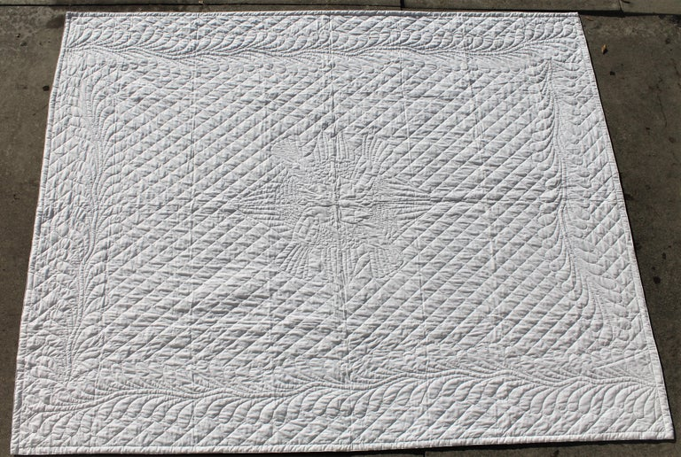 Cotton Antique Bridal Quilt from Pennsylvania For Sale