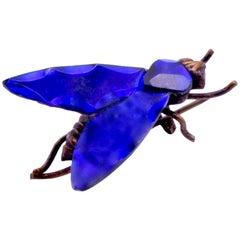 Antique Bristol Blue Vauxhall Glass Bug
