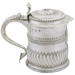 Antique Britannia Standard Silver Quart Tankard