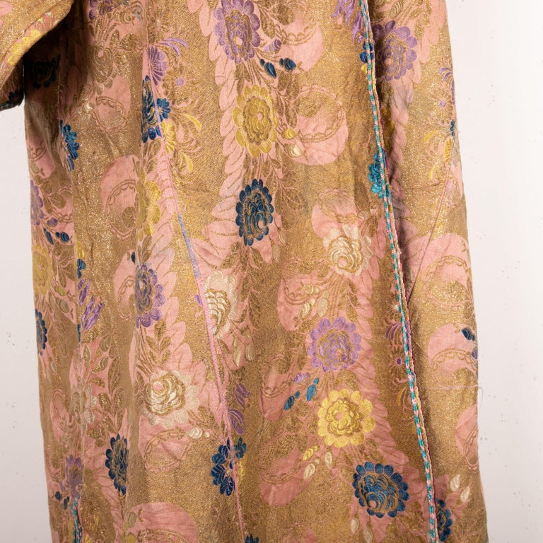 Islamic Antique Brocaded Moroccan Kaftan, Early 20th Century For Sale