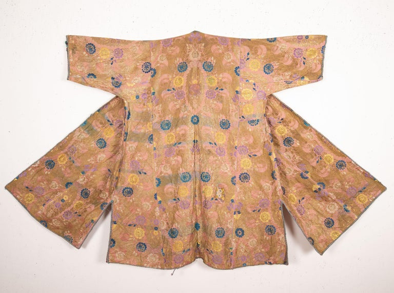 Antique Brocaded Moroccan Kaftan, Early 20th Century In Good Condition For Sale In Istanbul, TR