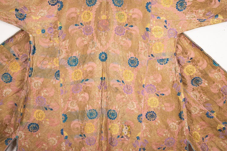 Antique Brocaded Moroccan Kaftan, Early 20th Century For Sale 1