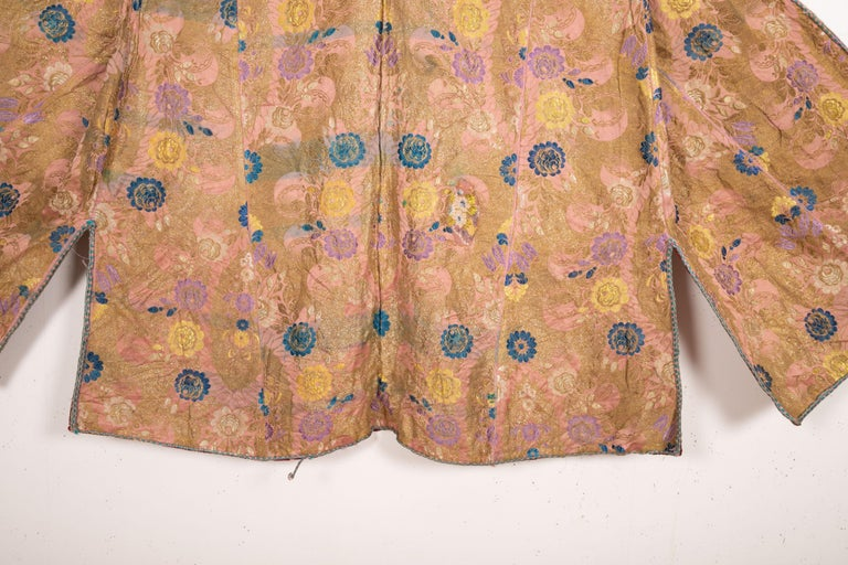 Antique Brocaded Moroccan Kaftan, Early 20th Century For Sale 2