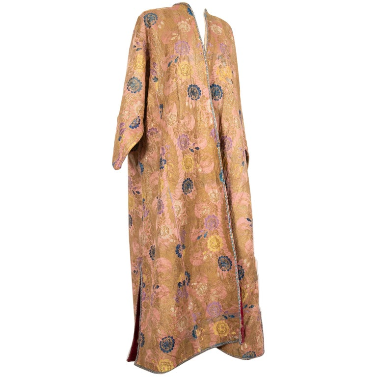 Antique Brocaded Moroccan Kaftan, Early 20th Century For Sale