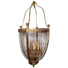 Antique Bronze 19th Century 8 Light Lantern