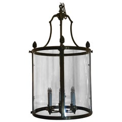 Antique Bronze 19th Century Hall Lantern, circa 1880