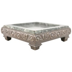 Antique Bronze and Marble Austrian Style Dish