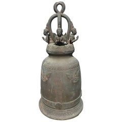 Antique Bronze Bell with Resonating Pleasing Sound