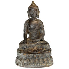 Antique Bronze Buddha, Charity and Compassion