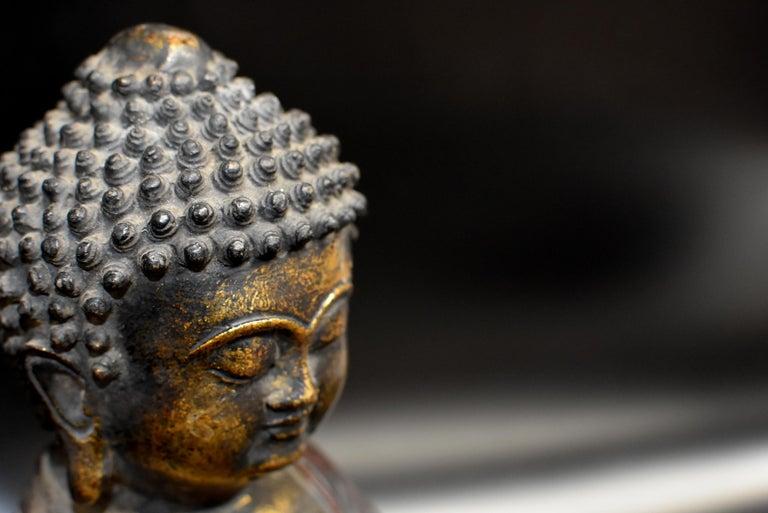 Bronze Buddha on Lotus Throne For Sale 5