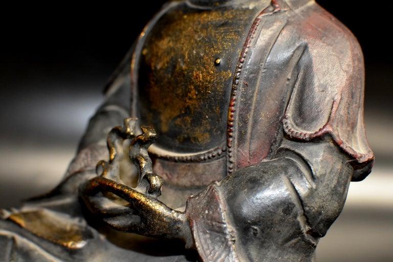 Bronze Buddha on Lotus Throne For Sale 12
