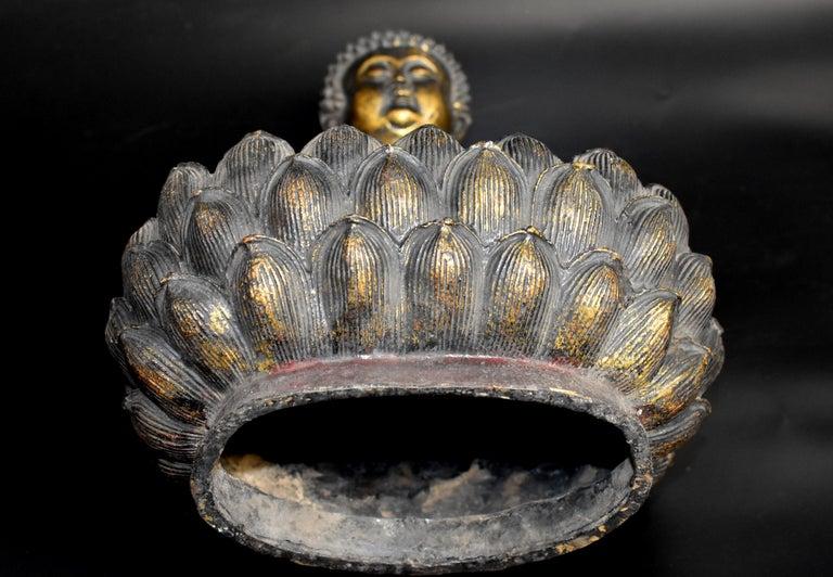Bronze Buddha on Lotus Throne For Sale 15