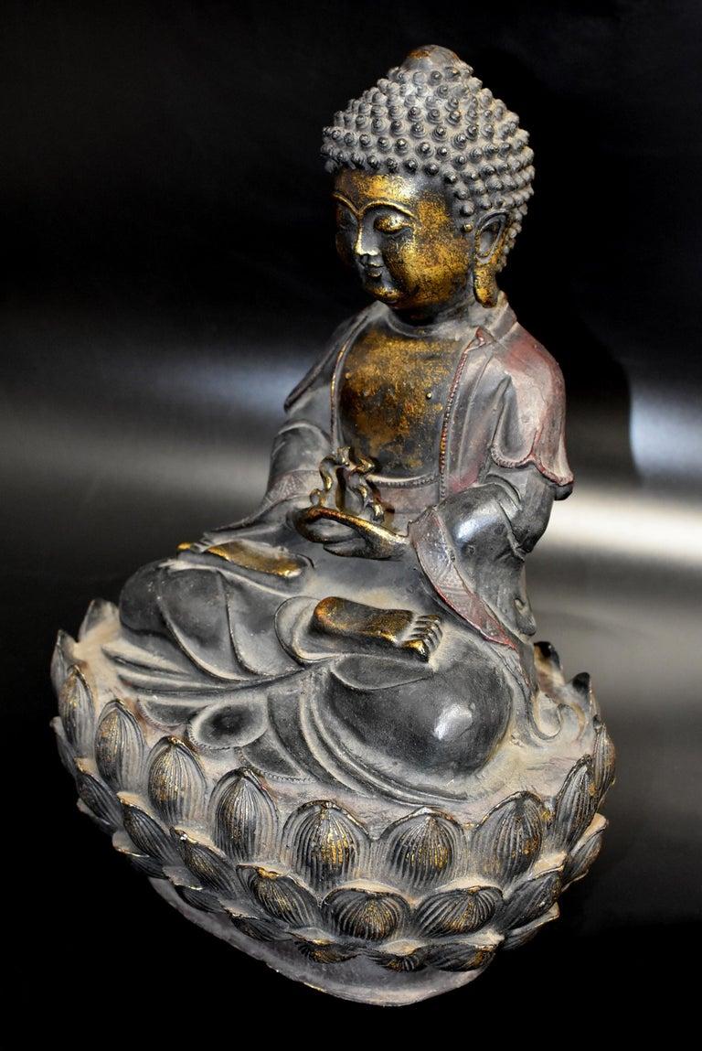 Bronze Buddha on Lotus Throne For Sale 2