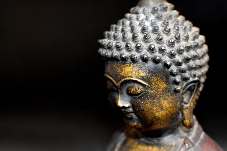 Bronze Buddha on Lotus Throne For Sale 3