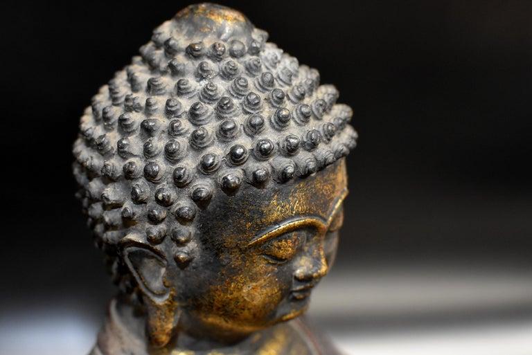 Bronze Buddha on Lotus Throne For Sale 4