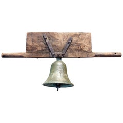 Antique Bronze Church Bell Dated 1818