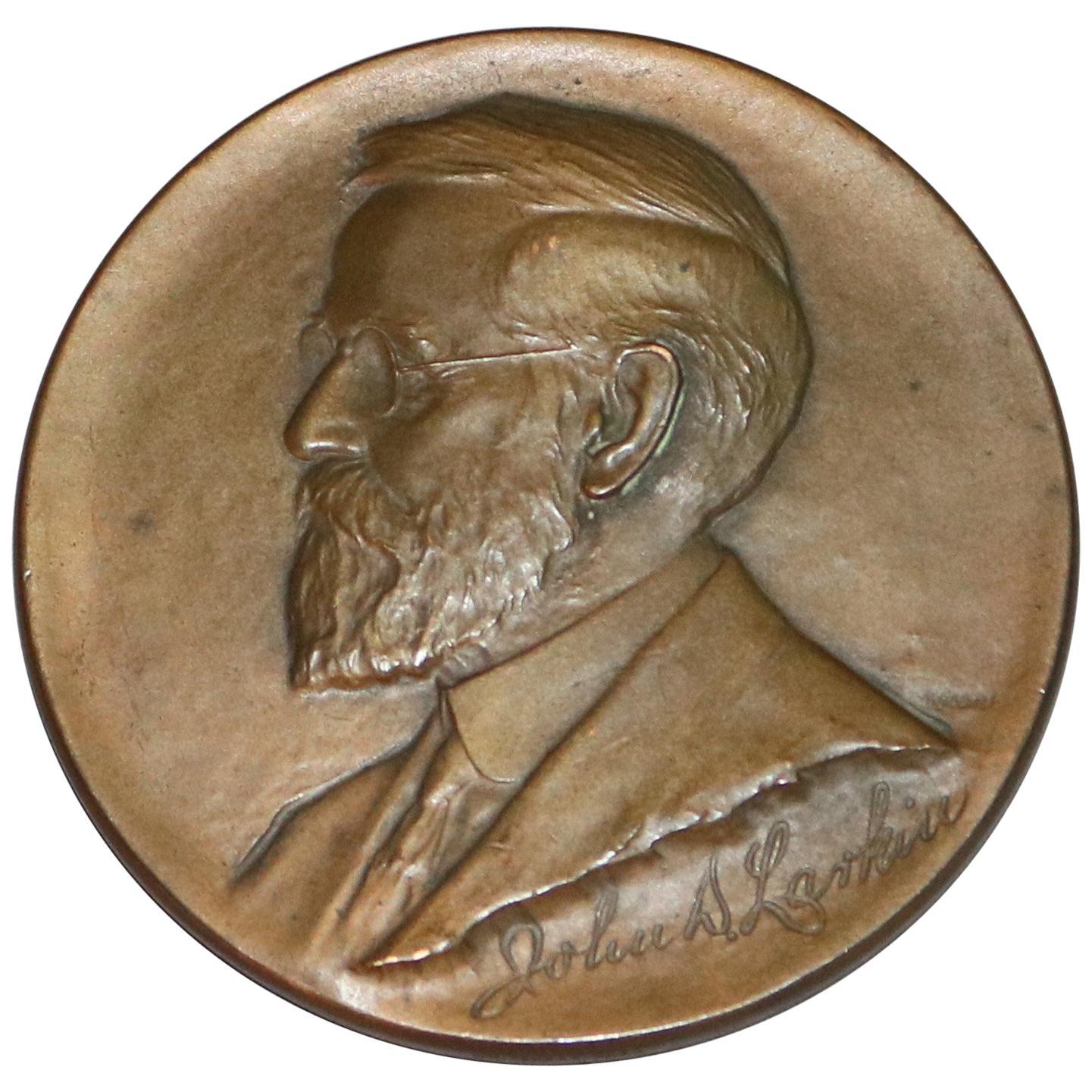Bronze Commemorative 50th Anniversary John Larkin of Buffalo, NY, circa 1925
