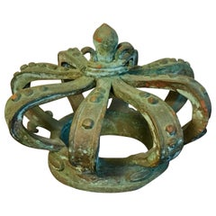 Antique Bronze Crown Objet d'Art