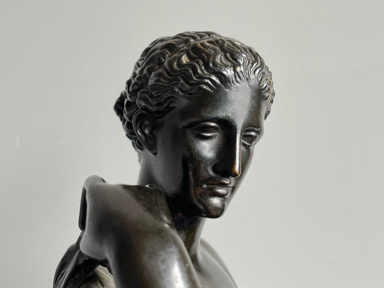 Antique Bronze Diana of Gabii Sculpture Made & Marked F. Barbedienne & L. Collas For Sale 6