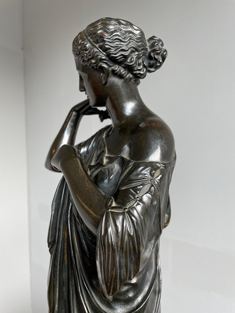 Antique Bronze Diana of Gabii Sculpture Made & Marked F. Barbedienne & L. Collas For Sale 7